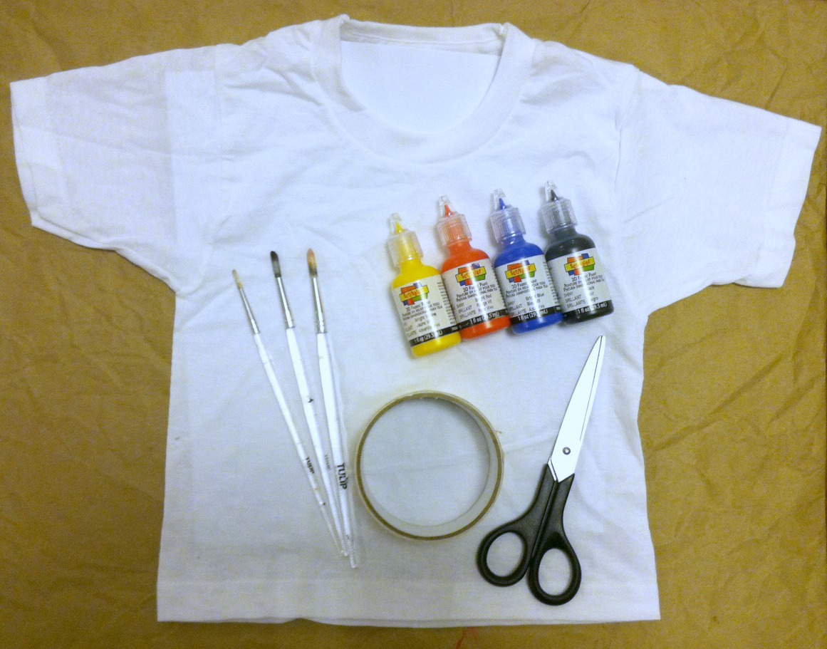 Ilovetocreate blog t shirt halloween make a mini mondrian for How to paint on t shirt