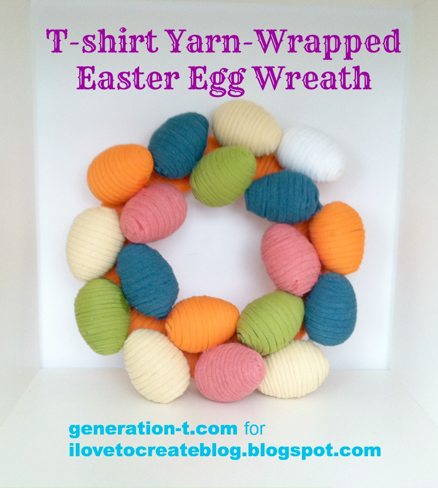 finish egg wreath