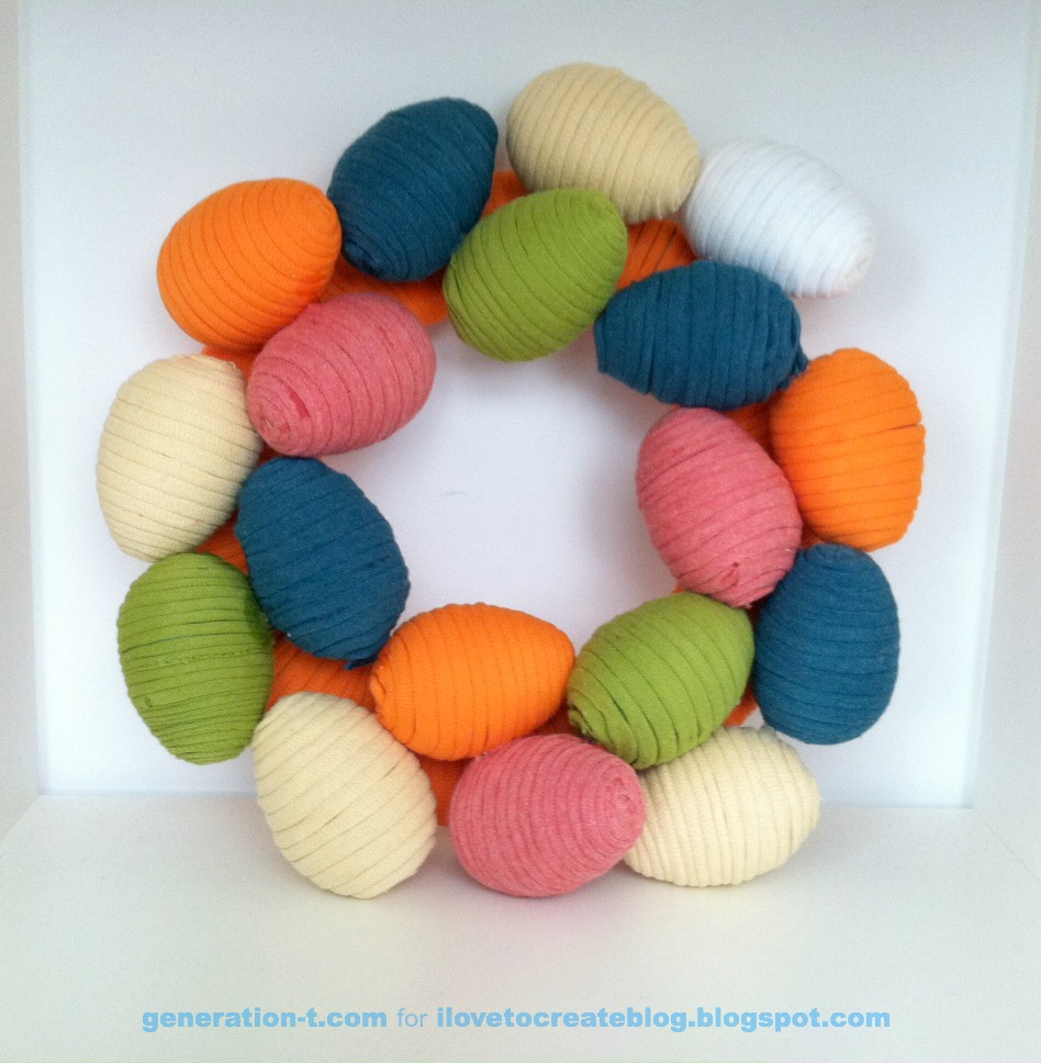 t-shirt yarn wreath generation-t.com