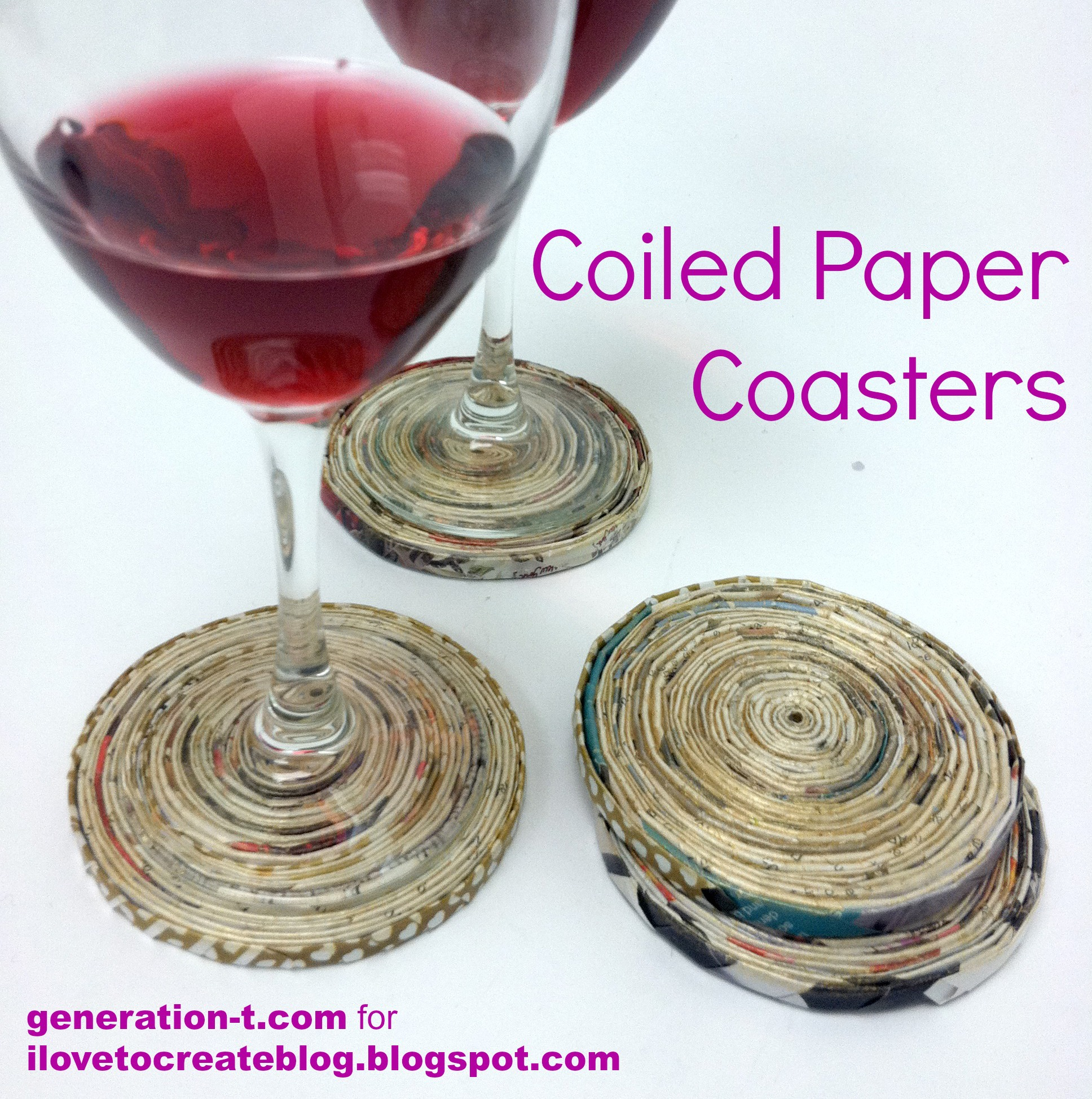 Coiled Paper Coasters