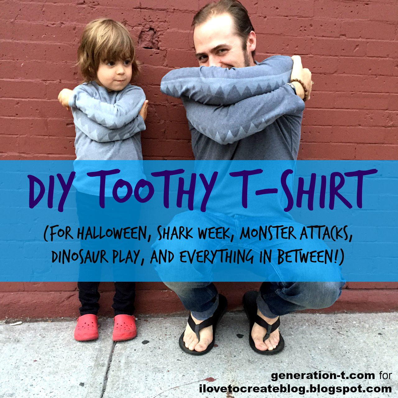 Toothy T-shirt generation-t.com & DIY Halloween costume « Generation T